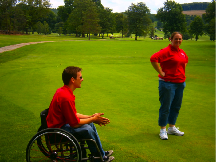 2012 Chuck Scally Memorial - Chris Meilo & volunteer Megan Freed.JPG